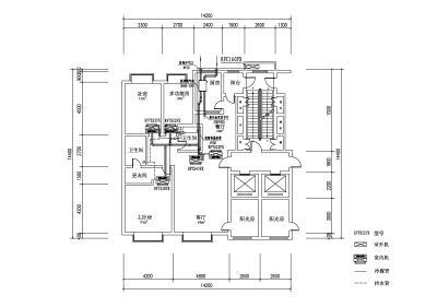 全热交换器新风空调系统80厘米深衣柜图片